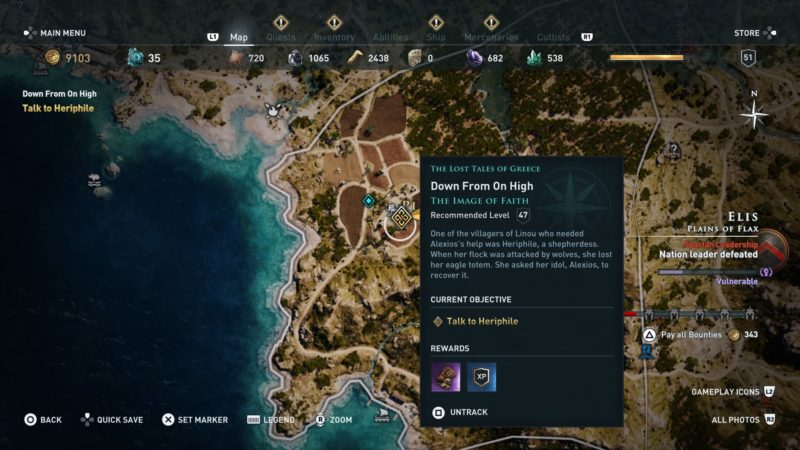 ac-odyssey-down-from-on-high-guide