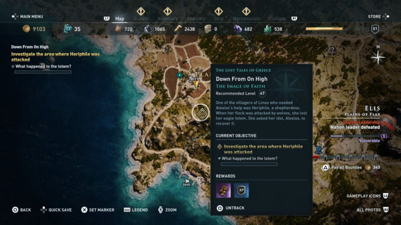 ac-odyssey-down-from-on-high-quest-guide