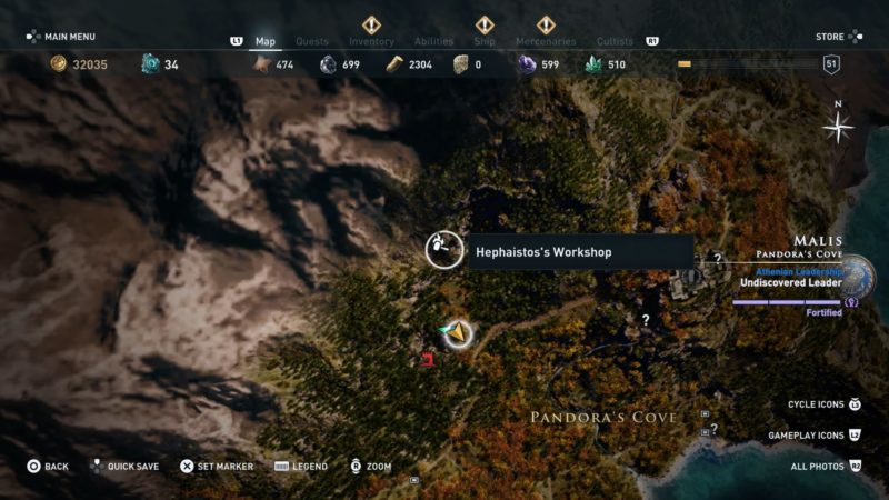 Assassin S Creed Odyssey Karte.Assassin S Creed Odyssey How To Find Hephaistos Workshop Location