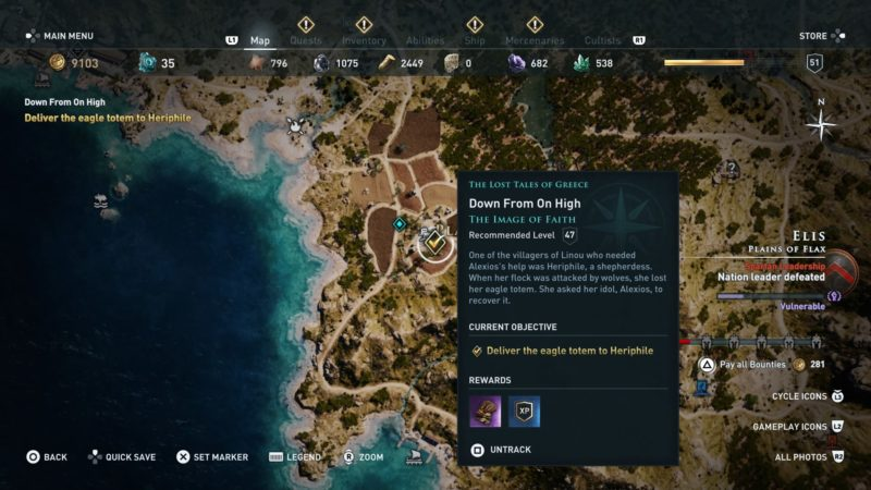 assassins-creed-odyssey-down-from-on-high-quest-walkthrough