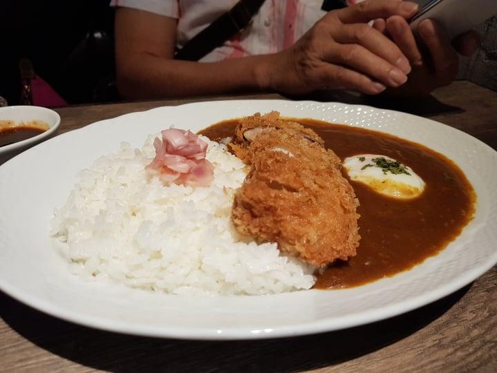 chicken curry katsu rice hoshino coffee