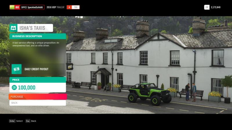 Forza Horizon 4: New Business (Isha's Taxis) - Ordinary Reviews