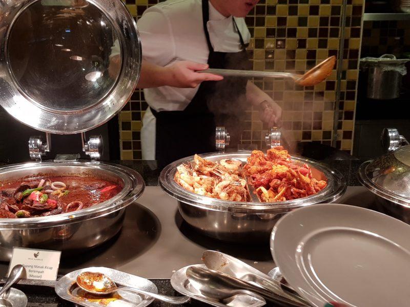 food in spice market restaurant - rasa sayang shangri-la penang