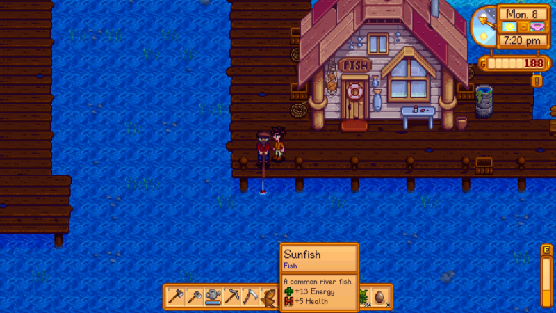 fish energy - stardew valley