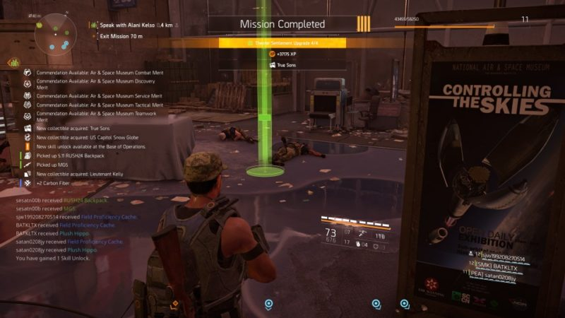 the division 2 - air and space museum objectives