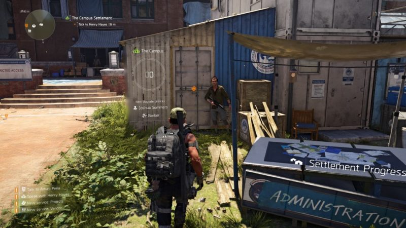 The Division 2 Blueprint Vendor Locations