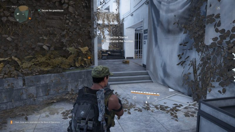 the division 2 - greenhouse community mission