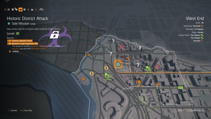 the division 2 - historic district attack