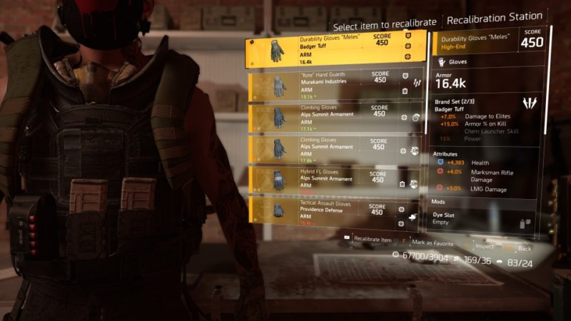 the division 2 - increase above gs450