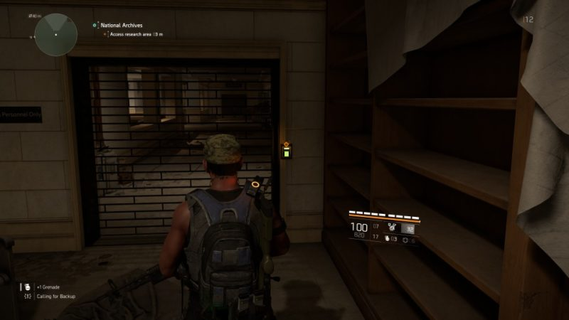 the division 2 - national archives mission