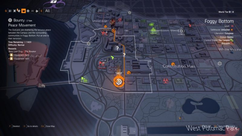 the division 2 - peace movement bounty