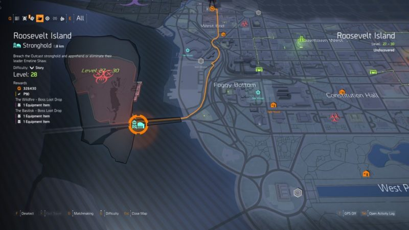 the division 2 - roosevelt island