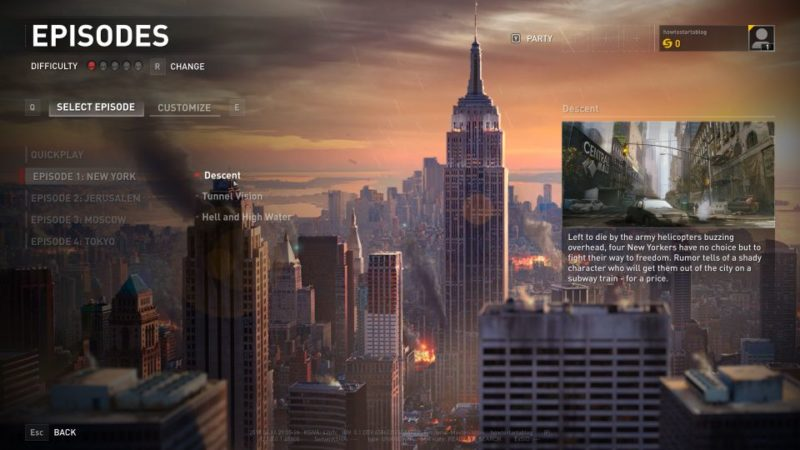 world war z - new york descent