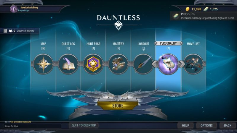 cant buy anything in store - dauntless