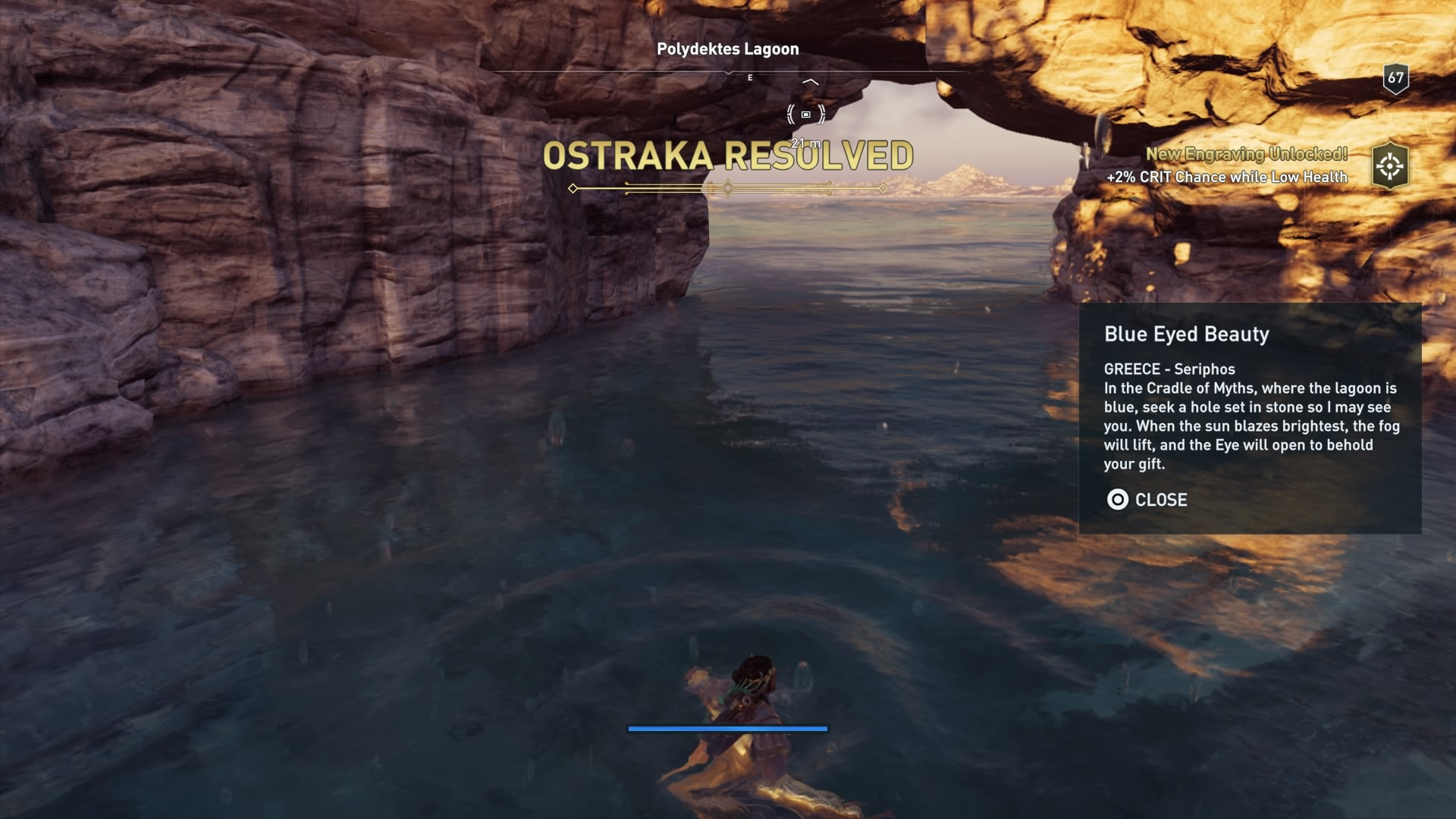 Ac Odyssey Blue Eyed Beauty Riddle Cradle Of Myths Tablet Location