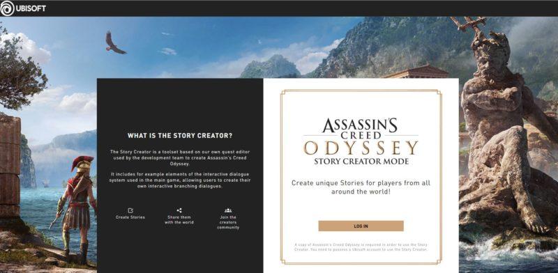 ac odyssey create a story