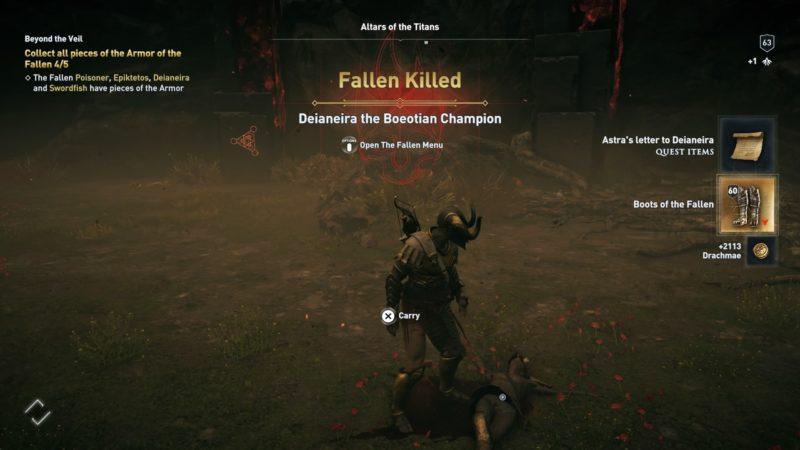 How To Get Armor Of Fallen Set (Beyond The Veil) - AC Odyssey