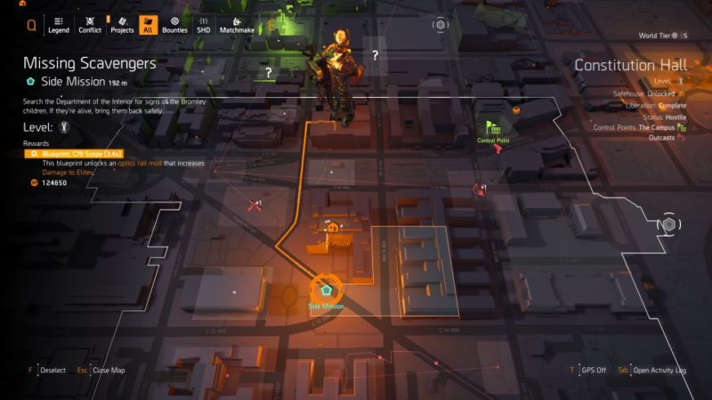 division 2 - missing scavengers side mission location
