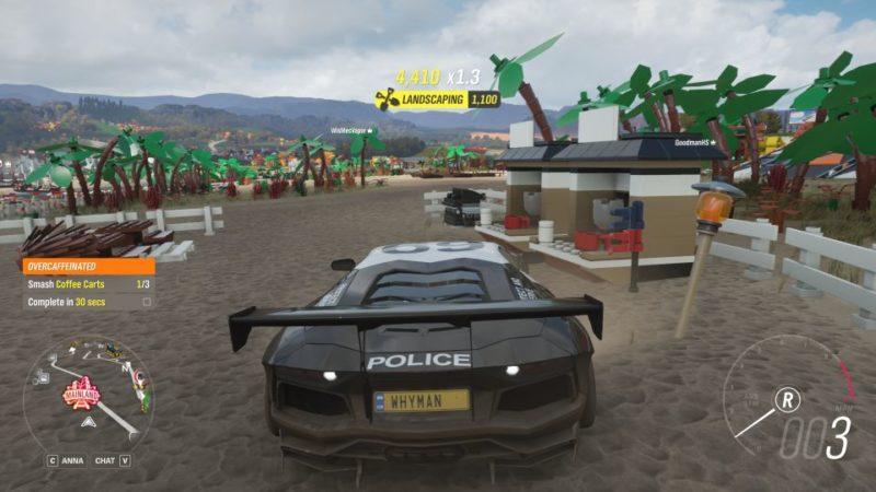 Smash 3 Coffee Carts Forza Horizon 4 Lego Speed Champions Smash through a breakable item. smash 3 coffee carts forza horizon 4