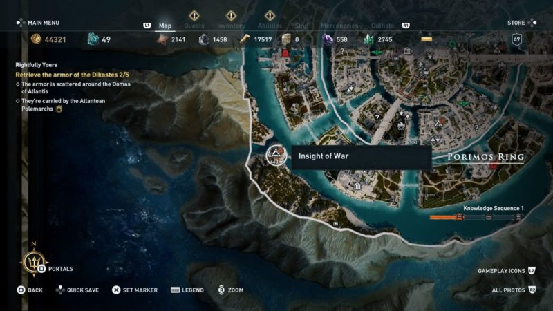ac odyssey - a complete education - insight of war location