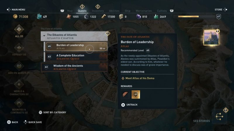 ac odyssey - burden of leadership