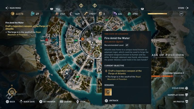 ac odyssey - fire amid the water guide