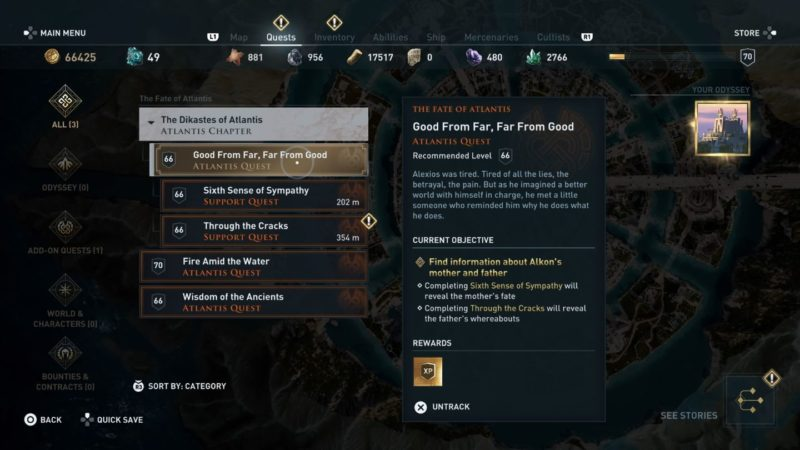 ac odyssey - good from far, far from good quest guide