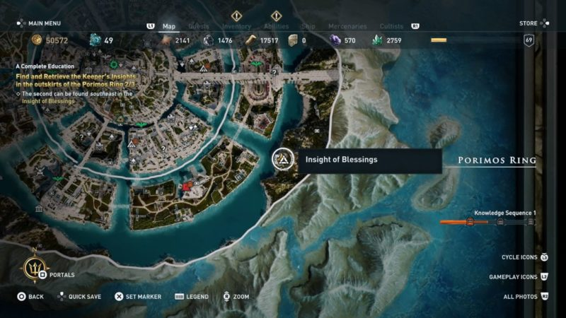 ac odyssey - keeper's insights location