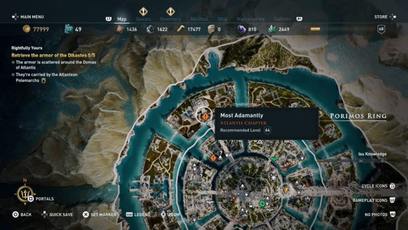 ac odyssey - most adamantly