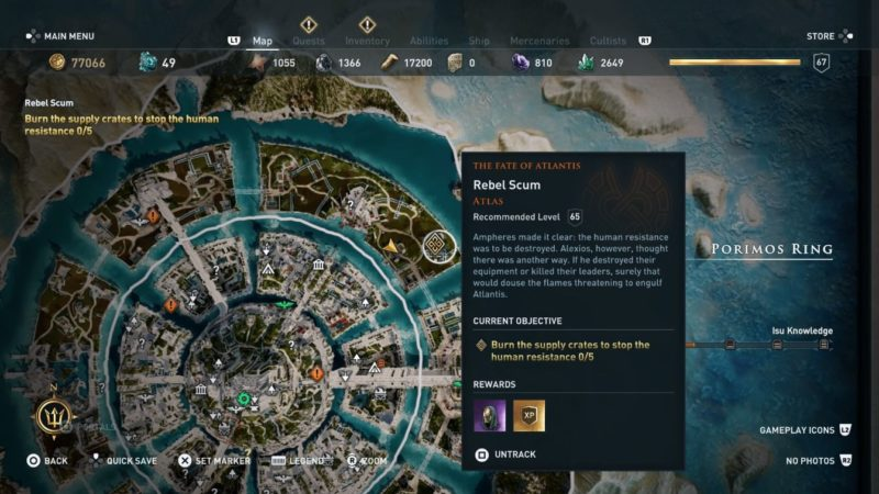 ac odyssey - rebel scum quest guide