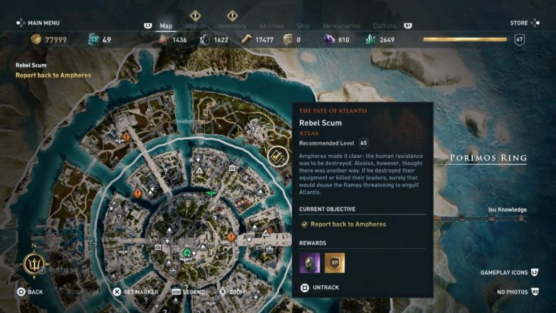 ac odyssey - rebel scum wiki and guide