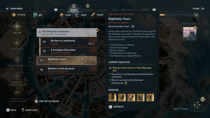 ac odyssey - rightfully yours guide wiki