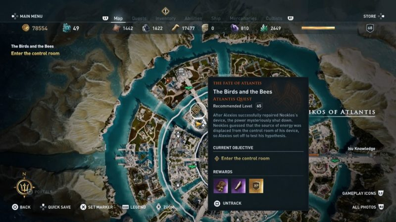 ac odyssey - the birds and the bees guide