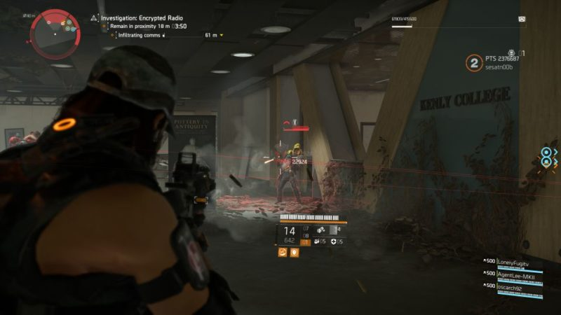 division 2 - kenly library - secure radio handset expedition guide