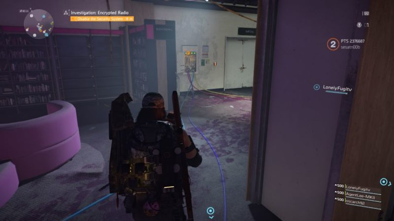 division 2 - kenly library - secure radio handset quest