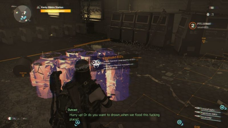 division 2 - kenly metro station - deployed ieds quest