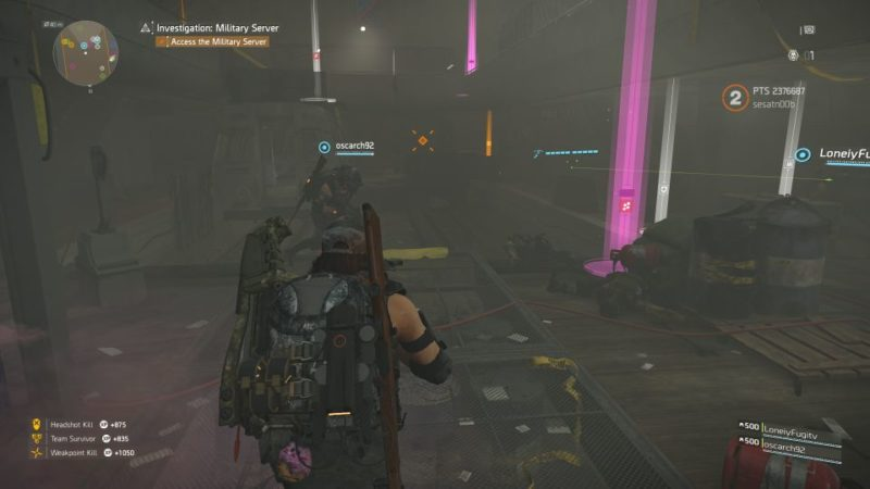 division 2 - kenly metro station - deployed military server quest
