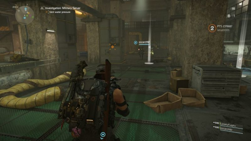division 2 - kenly metro station - deployed military server - which rewire or lever