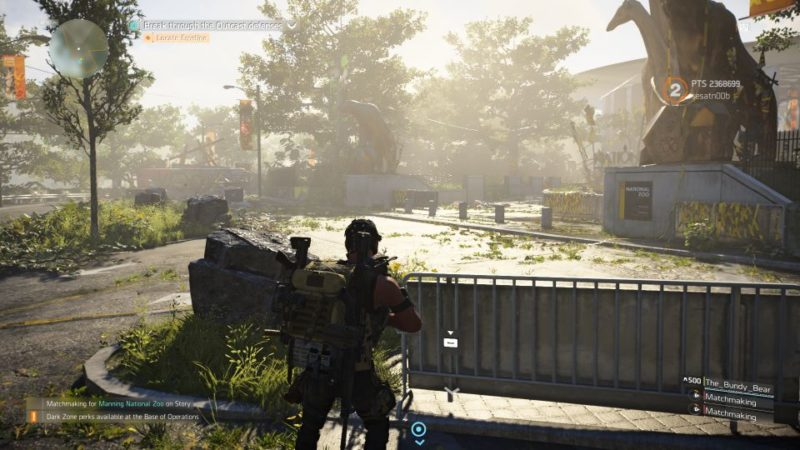 division 2 - manning national zoo guide and tips