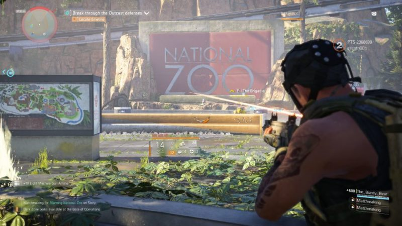 division 2 - manning national zoo quest
