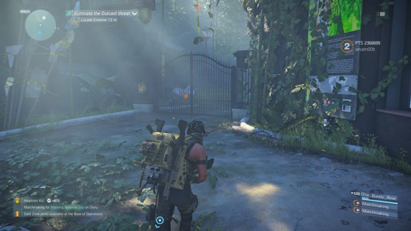 manning national zoo - the division 2 mission