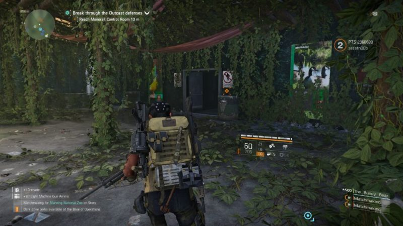 manning national zoo - the division 2 quest