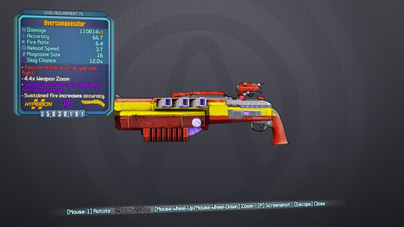 best guns in borderlands 2