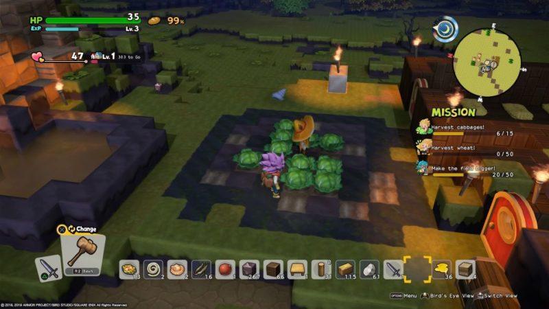 dragon quest builders 2 - furrowfield get sugar cane