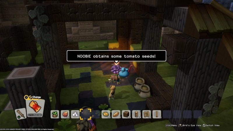 dragon quest builders 2 - how to find and plant tomato seeds