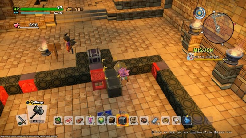 dragon quest builders 2 - puzzle to get echo flute