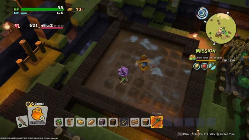 how to plant and grow sugar cane seeds - dragon quest builders 2