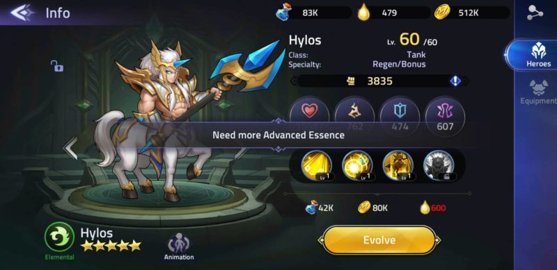 mobile legends adventure advanced essence
