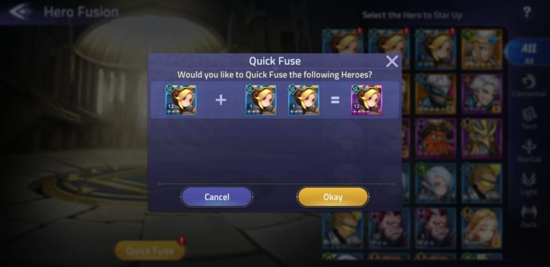 mobile legends adventure - how to fuse