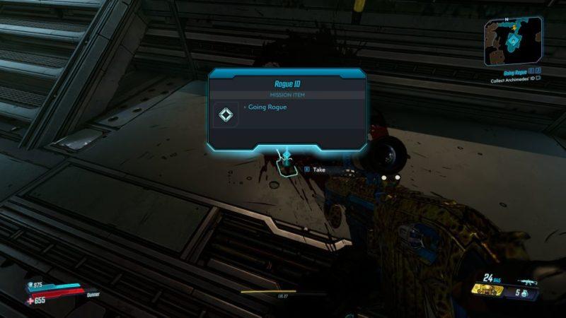bl3 - going rogue quest